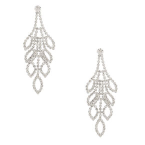 Rhinestone Leaf Jewelry Set - 2 Pack,