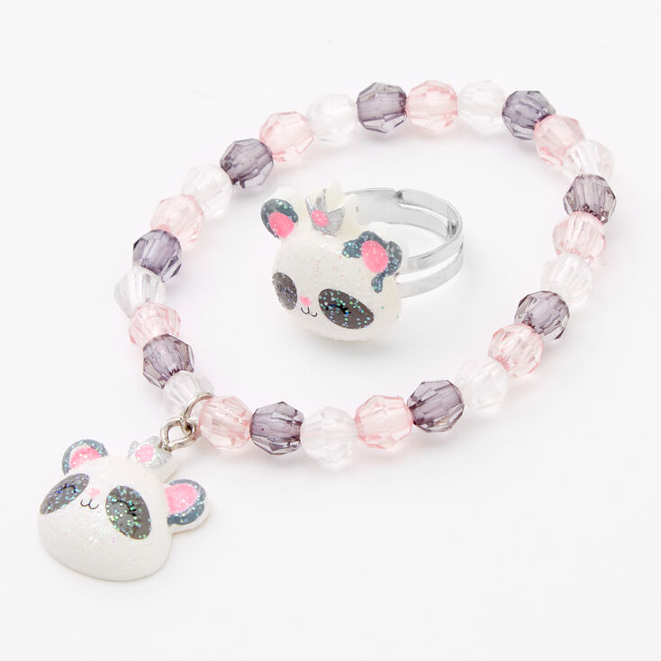 Claire's Club Panda Jewelry Set - 3 Pack,