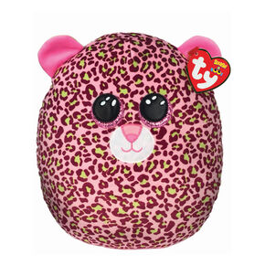 Ty® Squish-A-Boo Lainey the Pink Leopard Soft Toy,