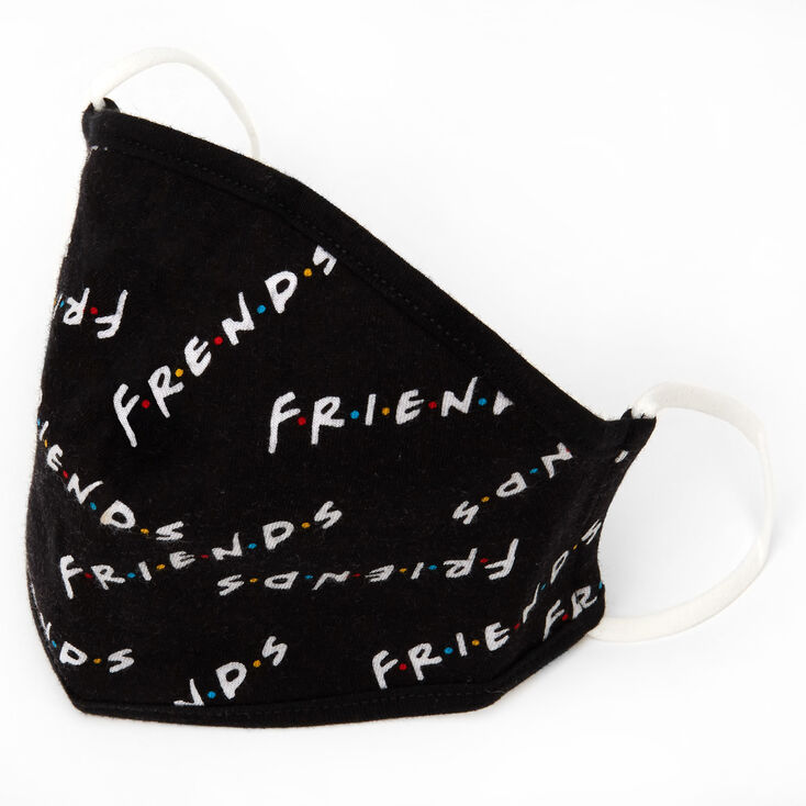 FRIENDS™ Cloth Face Mask – Black, Child medium/large,