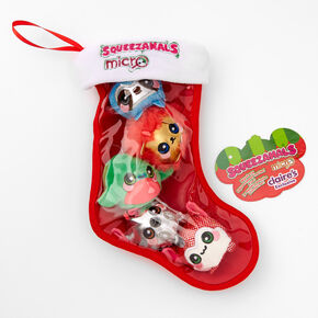 Squeezamals Micro Stocking Holiday Series Soft Toys - 5 Pack,