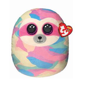 Peluche Cooper le paresseux en camouflage arc-en-ciel Ty® Squish-A-Boo,