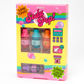 Mini Soda Pop Bottle Glitter Lip Gloss Set - 5 Pack,