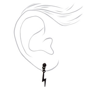 "Mixed Metal 0.5"" Lightning Bolt Drop Earrings - 3 Pack,"
