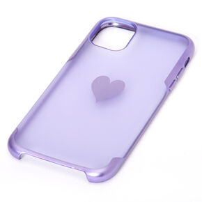 Lavender Frosted Heart Phone Case - Fits iPhone 11,