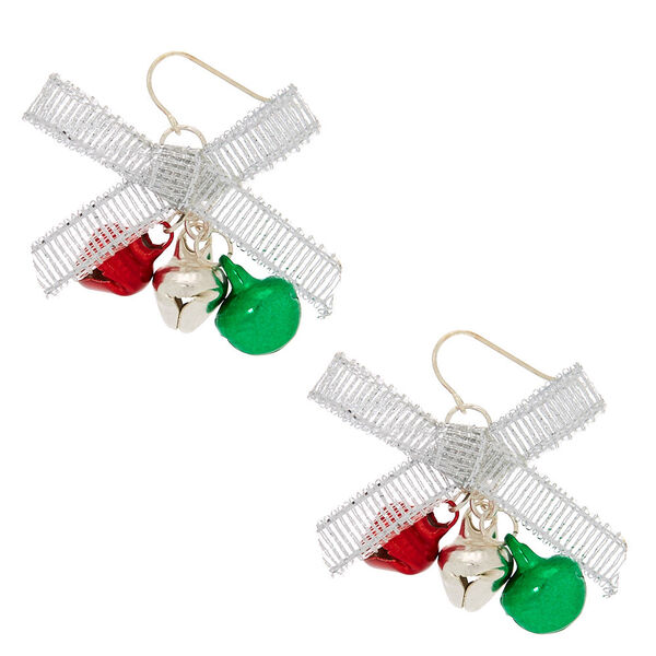 "Claire's - 1"" bells drop earrings - 1"