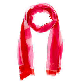 Love One Another Fashion Scarf - Pink,
