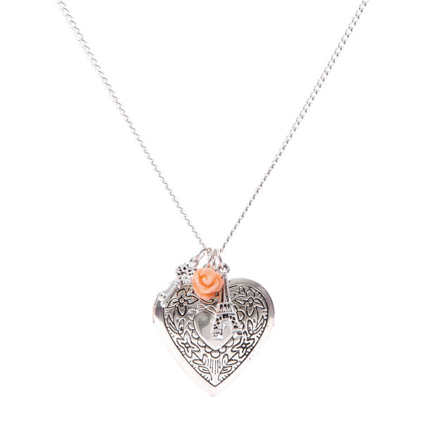 Claire's - heart locket and charms pendant necklace - 1