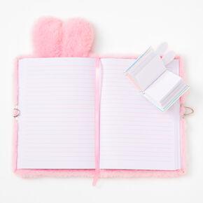 Pink Bunny Furry Lock Diary,