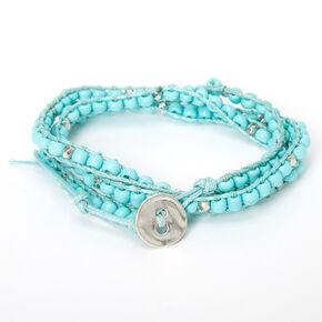 Beaded Wrap Bracelet - Turquoise,