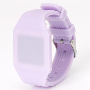 Montre LED aux tons pastel - Violet,