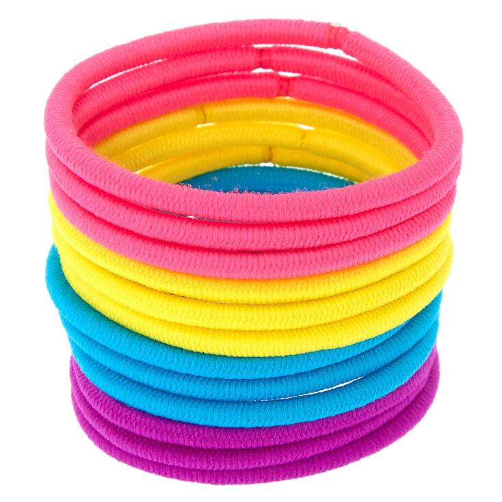 Bright Neon Hair Bobbles - 12 Pack,