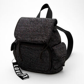 Mini Striped Lurex Backpack - Black,
