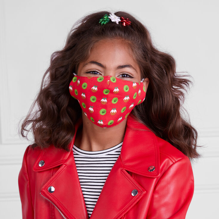 Cotton Christmas Dinner Face Mask - Adult,