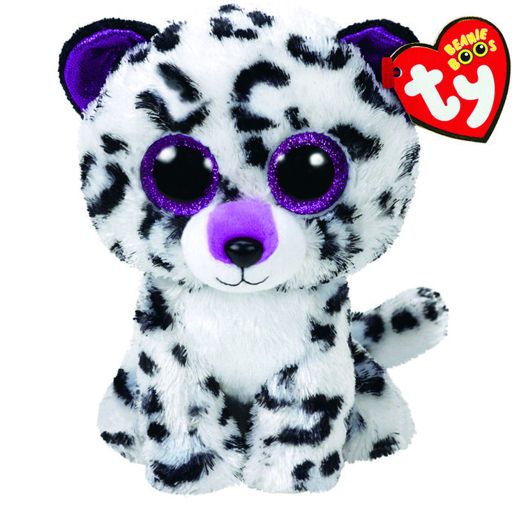 Ty Beanie Boo Large Violet the Leopard Soft Toy  354acaaee15