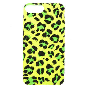 Neon Yellow Leopard Phone Case - Fits iPhone 6/7/8/SE,
