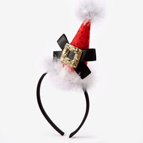 Santa Hat Feather Headband,