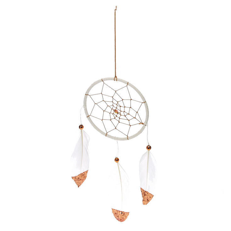 Mini Metallic Feather Hanging Wall Art - Rose Gold,