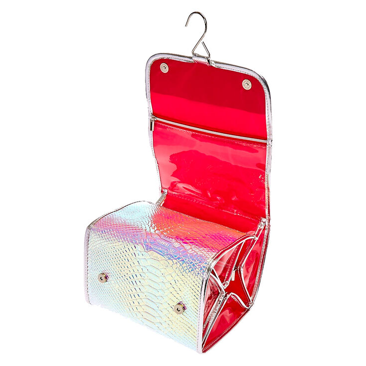 Holographic Roll Travel Makeup Bag,