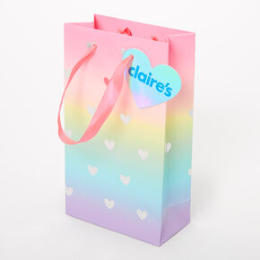 Small Rainbow Hearts Gift Bag,