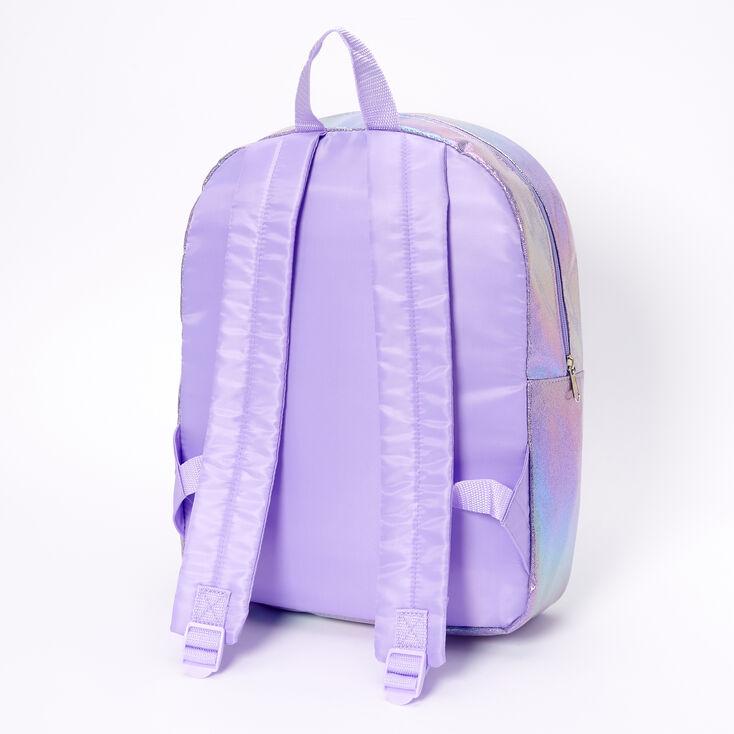 ©Disney Frozen 2 Elsa Holographic Sequins Large Backpack - Purple,