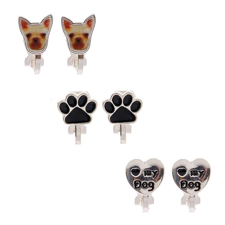 Puppy Love Clip On Stud Earrings,