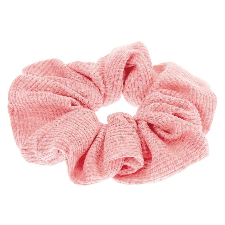 Medium Ribbed Hair Scrunchie - Pink,