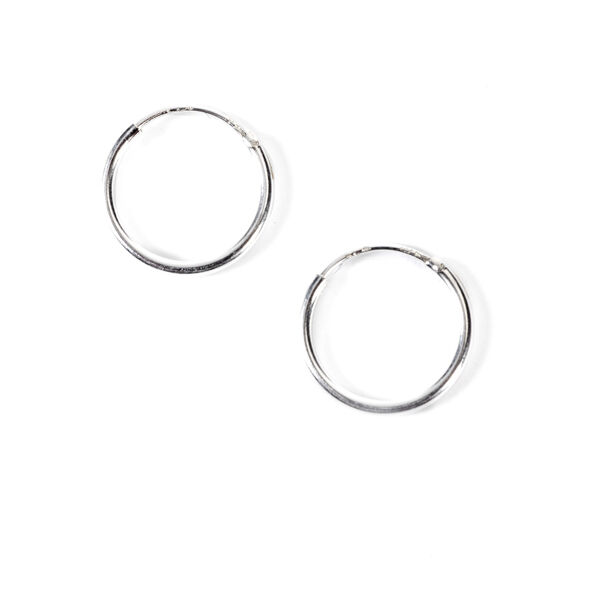 Claire's - sterling 10mm classic hoop earrings - 1