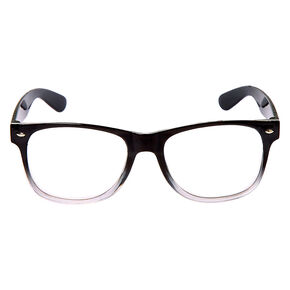 Ombre Retro Clear Lens Frames - Black,