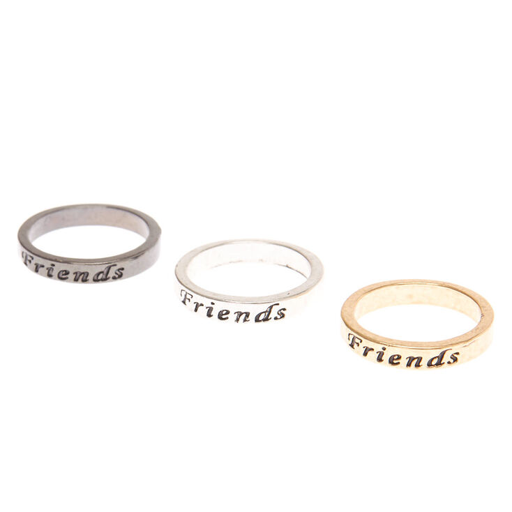 Best Friends Mixed Metal Rings - 3 Pack,