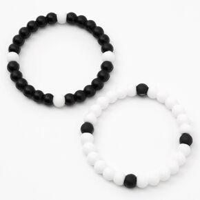 Yin Yang Fortune Stretch Bracelets - 2 Pack,