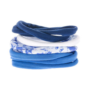 Cloudy Rolled Hair Ties - Blue,