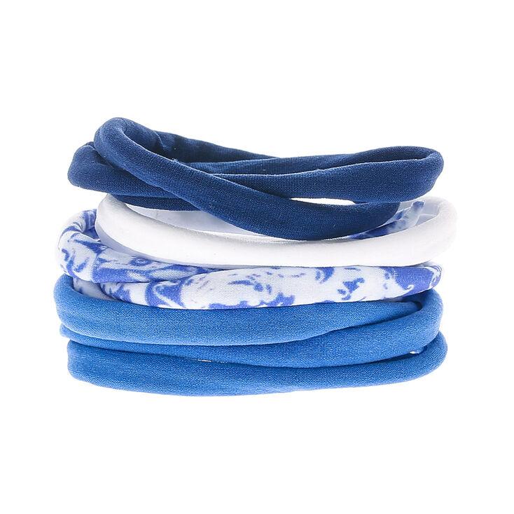 Cloudy Rolled Hair Ties - Blue,