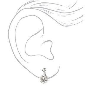 Silver 15MM Tube Hoop Earrings,