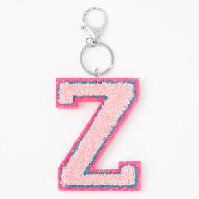 Pink Varsity Initial Keyring - Z,