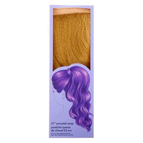 Bandeau avec fausse queue de cheval cheveux bouclés - Blond,