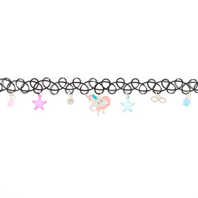 Unicorn Star Tattoo Choker Necklace,