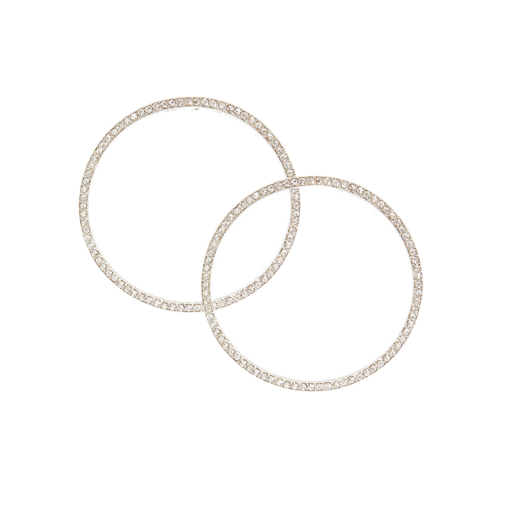 earring product stud gallery normal round jewelry rhodium swarovski crystal hoop plated lyst and set