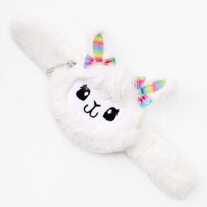 Llama Slap Wristlet - White,