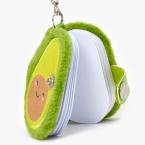 Smiling Avocado Diary Keychain - Green,