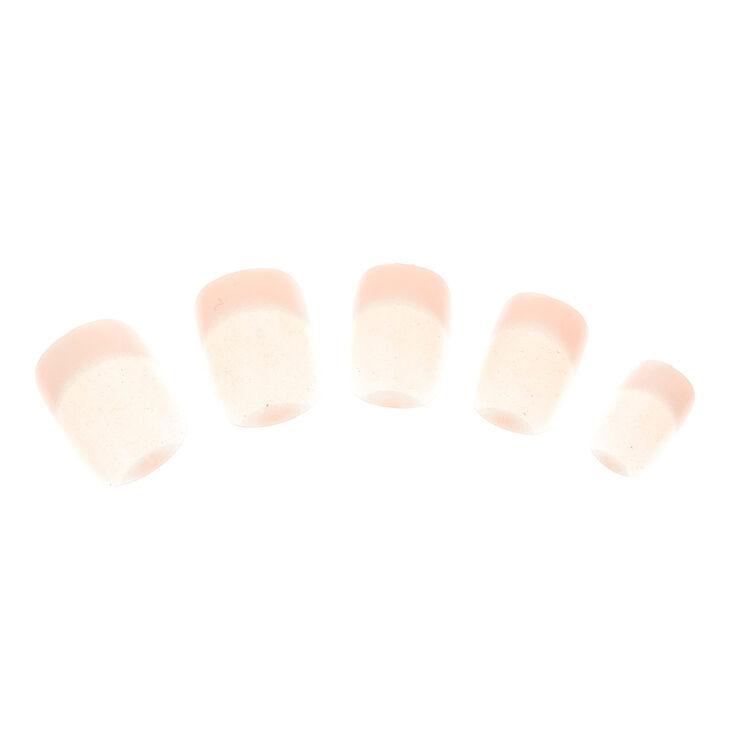 Lot de 24 faux ongles au rendu nacré,