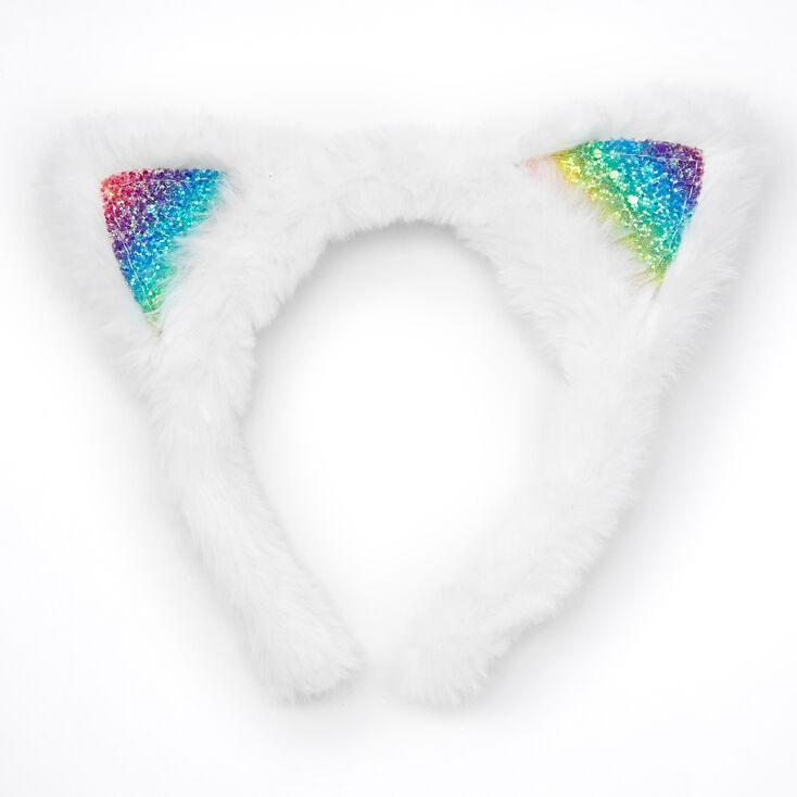 Furry Cat Costume Set - White,