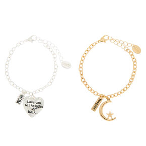 Mixed Metal Mother Daughter Charm Bracelets - 2 Pack 4a20e61e53