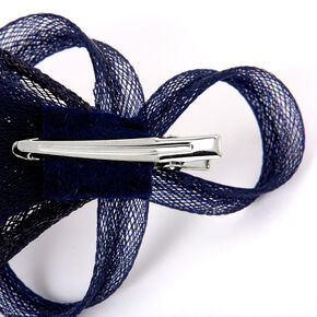 Embellished Teardrop Fascinator Hair Clip - Navy,