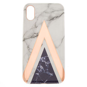 Geometric Marbled Phone Case - Fits iPhone X/XS,