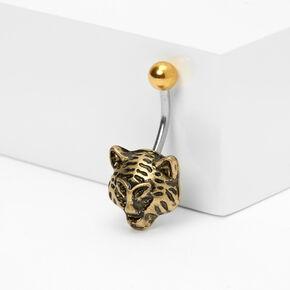 Piercing de nombril tigre 1,6mm couleur dorée,