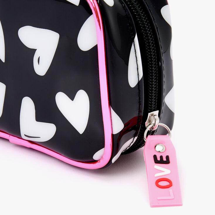 Black & White Hearts Makeup Bag,