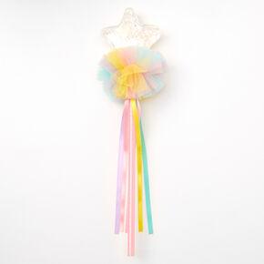 Claire's Club Pastel Shaker Star Wand - Rainbow,