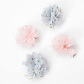 Barrettes à fleurs en mousseline tons pastel Claire'sClub - Lot de 4,