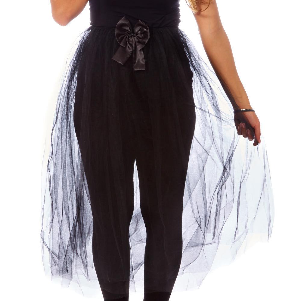 Black Long Train Halloween Tutu